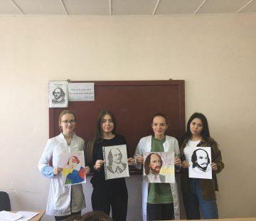 Отчёт мероприятия «Шекспировские чтения» на кафедре иностранных языков № 4
